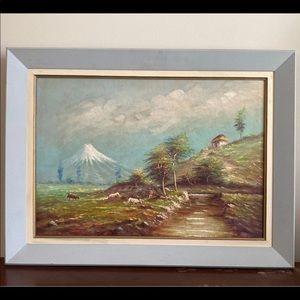 F. Raquel Moncayo Oil On Canvas Painting RARE